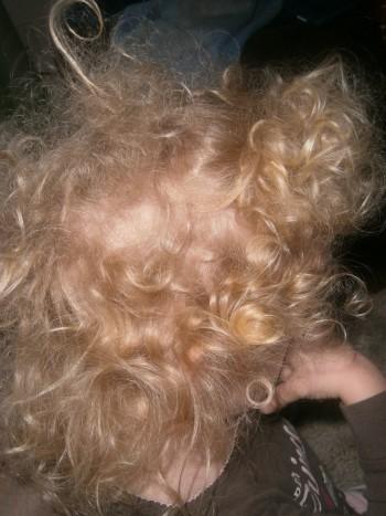 Curls + Restless Sleep = Major Bed Head!