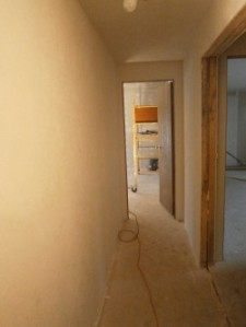 Hallway drywalled textured