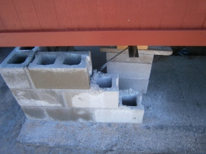 Blocks after rain