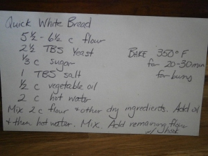 Great homemade bread recipe used by my grandma and mom.