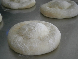 This was the best way to proof the rolls for a nice round bun shape.